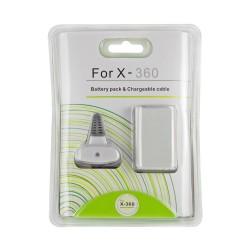 batterie + câble de recharge pour manette x360